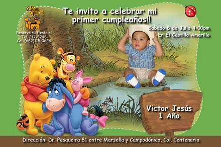 Como hacer una invitación de Winnie Pooh - Imagui