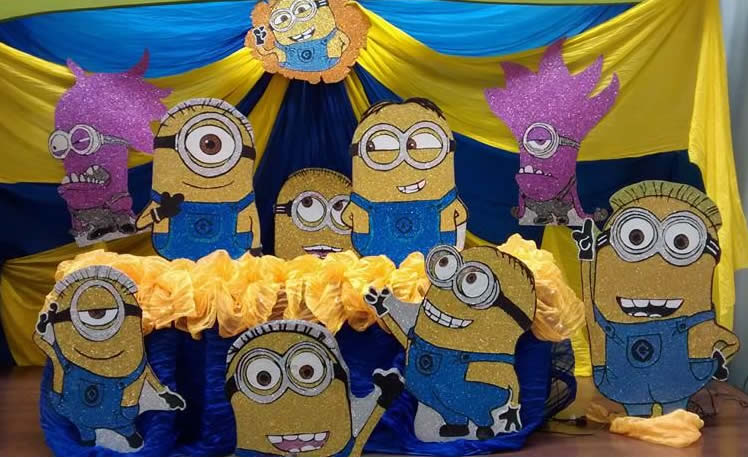 Decoracion mesa central Minions