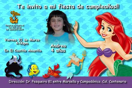 Invitación Gratis De La Sirenita Imagui